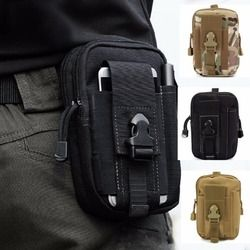 Tactical Universal Holster Military Molle Hip Waist Belt Bag Wallet Pouch Purse Phone Case with Zipper for iPhone Dropshipping