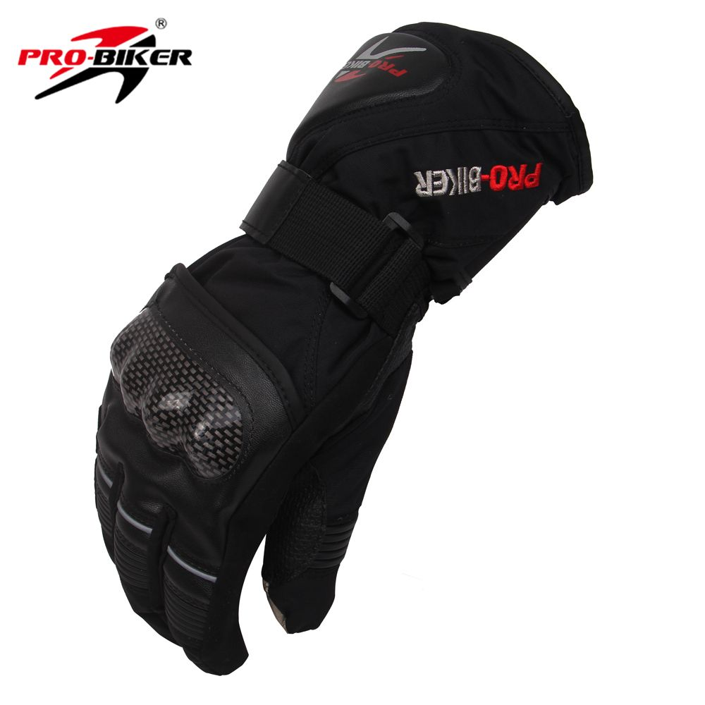 PRO-BIKER Outdoor Sport Waterproof Gloves Winter Thermal Warm Motorcycle Motocross Cycling Skiing Snowboarding Gloves Guantes
