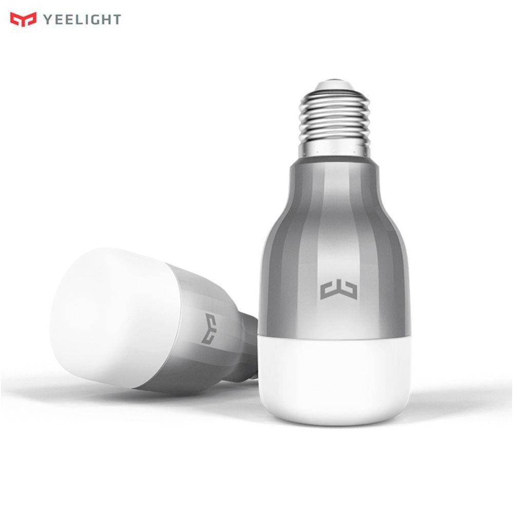 Original Xiaomi Yeelight LED Smart Bulb 16 Million Colors RGB E27 9W 600LM Dimming Light WiFi Mi Smart Home APP Remote Control