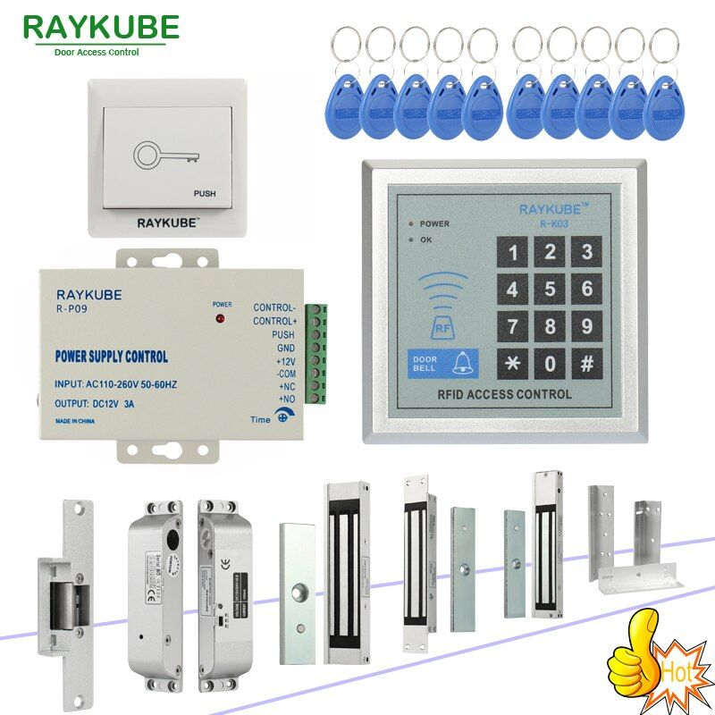 Kit de système de contrôle d'accès RFID RAYKUBE avec clavier électronique et lecteur RFID Kit de bricolage pour la sécurité des portes