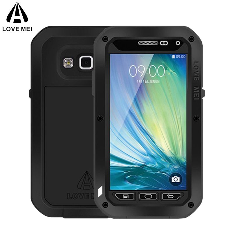LOVE MEI Metal Case For Samsung Galaxy A5 2015 Cover Aluminum Armor Shockproof Waterproof Case For Galaxy A5 2015 A500 A500F