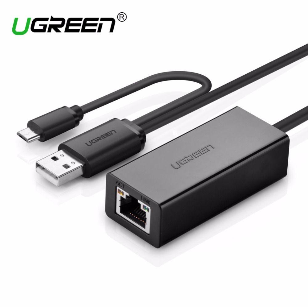 Ugreen OTG Ethernet Micro USB 2.0 à RJ 45 Réseau Adaptateur 10/100 Mbps pour Nintend Commutateur Comprimés Android téléphone OTG Ethernet