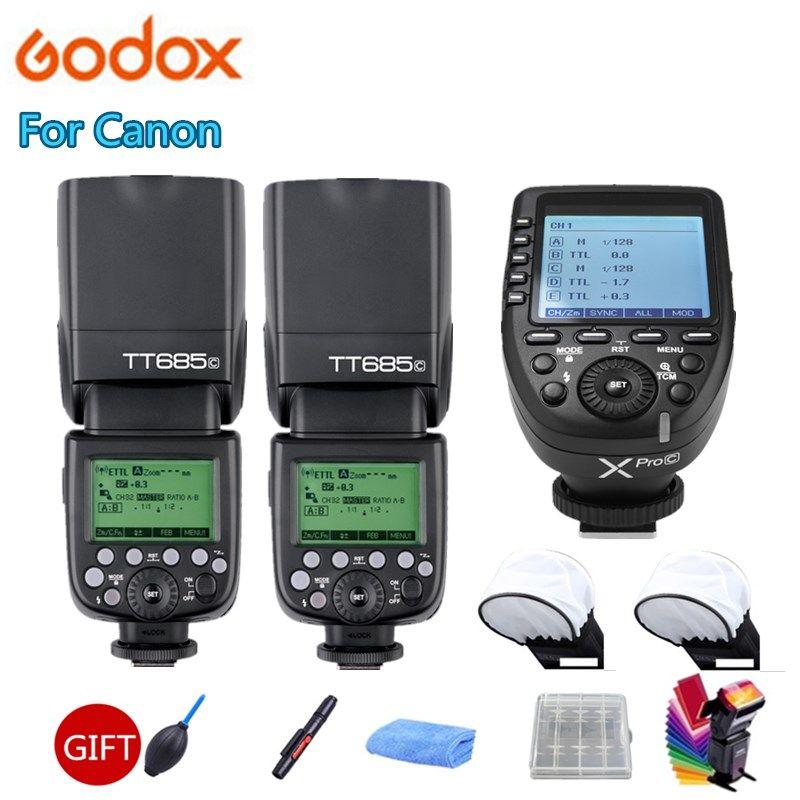 Godox TT685 TT685C Camera Flash Speedlite 2.4G Wireless TTL HSS + Xpro-C Transmitter Trigger For Canon 80D 800D 70D 700D 60D