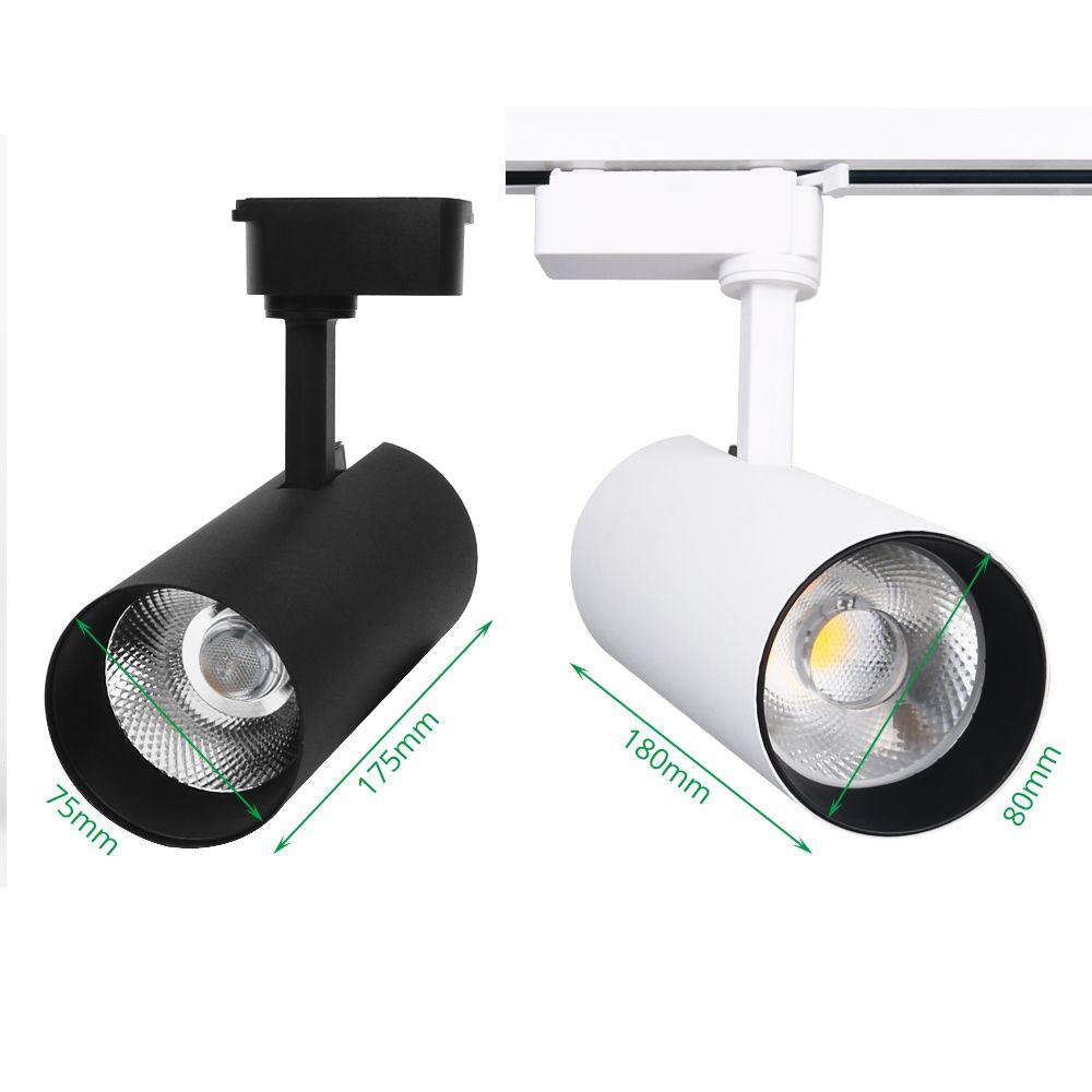 Track Licht LED 30 watt COB Schiene Strahler Lampe Leuchte Spot Lichter Birne für Shop Shop Mall Ausstellung Decke Flecken beleuchtung