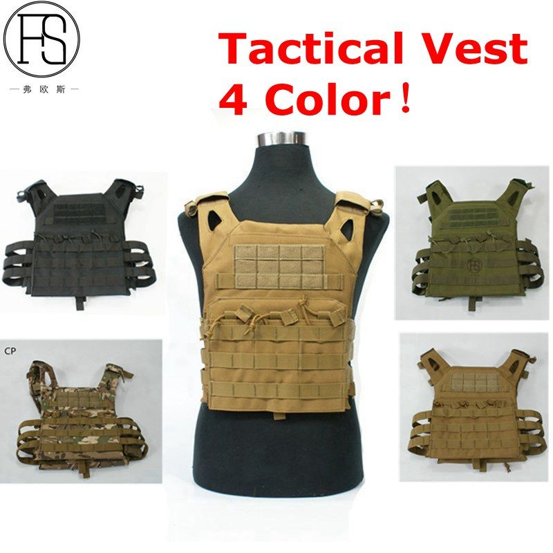 1000D Molle Tactical Vest Simplified Version Military Protective Plate Carrier Plate Carrier Vest Ammo Magazine Body Armor