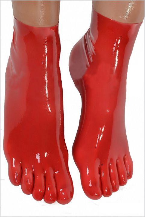 Бесплатная доставка! 2016 новый опт и розница латекс фетиш носки, Короткие носок с 5 пальцами 4 цвета доступны горячая распродажа