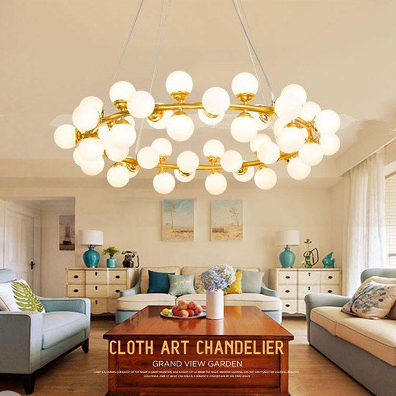 Magie bean LED molekulare Anhänger Licht eisen kunst glas ball blase wohnzimmer restaurant Kunst Anhänger Lampe