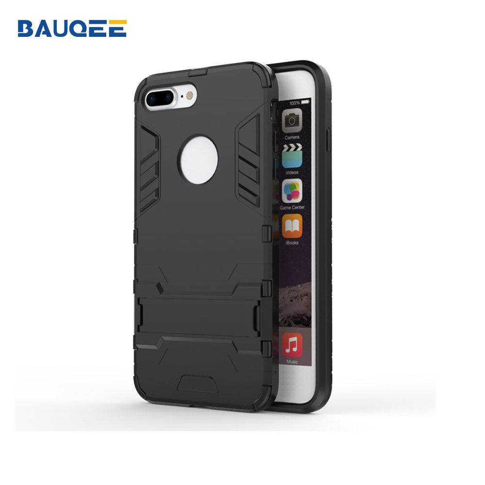 Phone Case for iphone 7 8 plus Drop Protection Cases Plastic+TPU Cover Kickstand Phone Casing Capa Back Cover for i7 8 plus