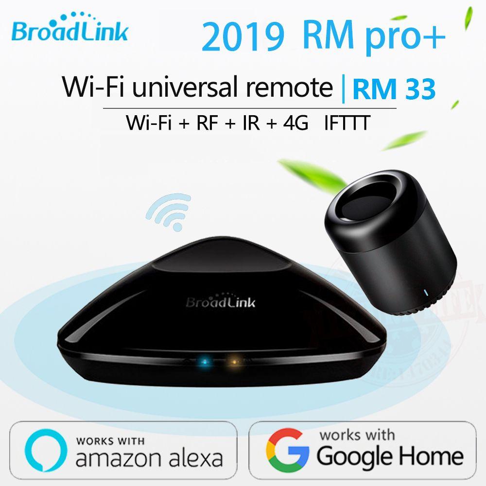 2019 Broadlink RM33 RM Pro +/RM mini3 télécommande domotique intelligente contrôleur universel Intelligent WIFI + IR + RF commutateur