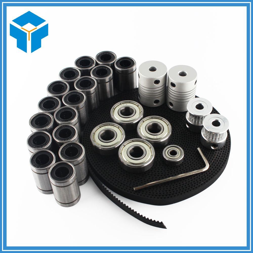 3d printer <font><b>reprap</b></font> i3 movement kit GT2 belt pulley 608zz bearing lm8uu 624zz bearing 3D printer