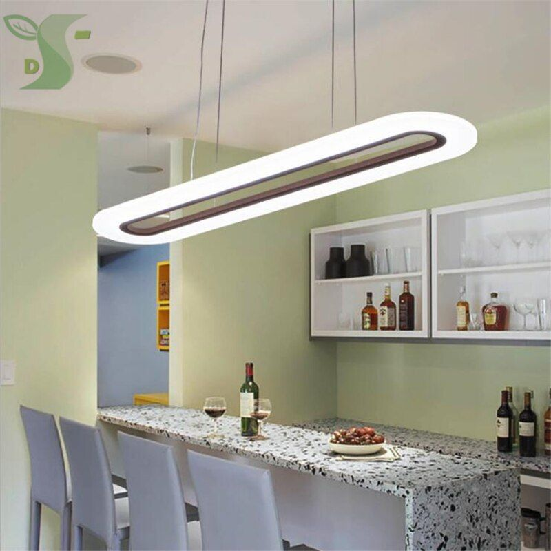 2pcs combination LED pendant lights 30w/40w oval Ultra-Thin Modern AC85-265v dimmable Led Light for Living Room Bedroom