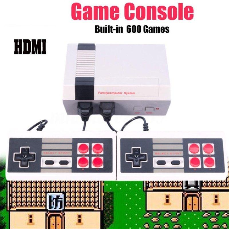 HDMI HD Home Vidéo Système de Jeu Rétro Classique Jeu Consoles Intégré 600 Enfance Classique Jeux Double Contrôles pour NES
