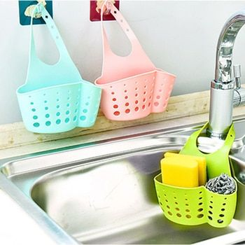 Portable Basket Home Kitchen Hanging Drain Basket Bag Bath Storage Tools Sink Holder Bathroom Soap Hanging Kitchen Accessory
