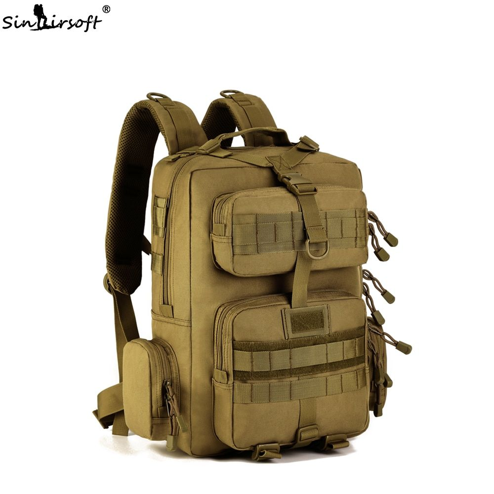 SINAIRSOFT 14 inches Laptop 30L Sport Camping backpack Military Tactical Backpack Travel Climbing Hunting Hiking Shoulder Bags