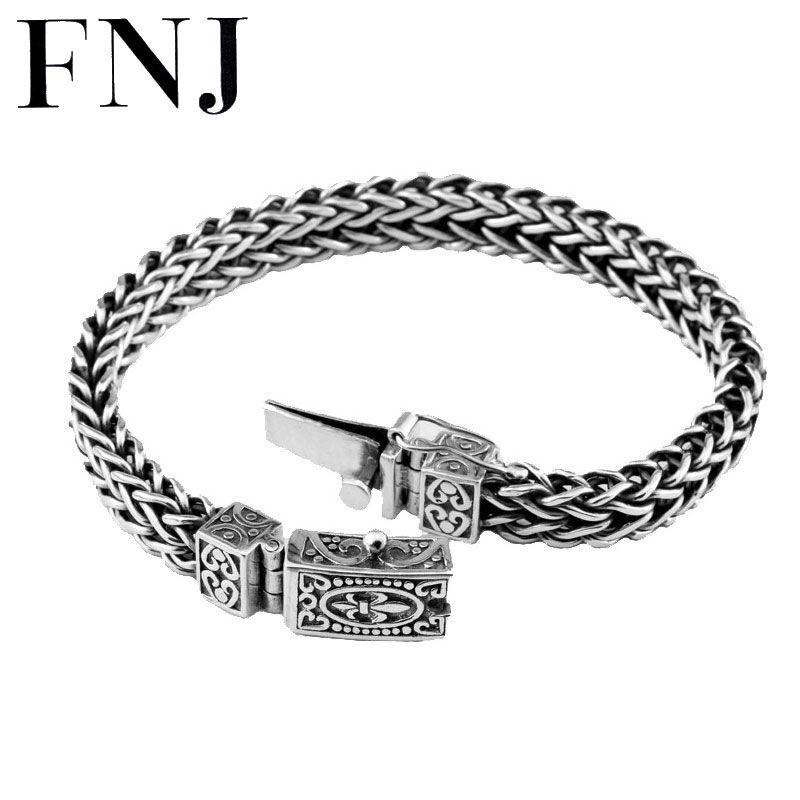 100% 925 Argent Bracelet D'ancrage Largeur 8mm Classique Fil-câble Lien Chaîne S925 Thai Argent Bracelets pour les Femmes hommes Bijoux