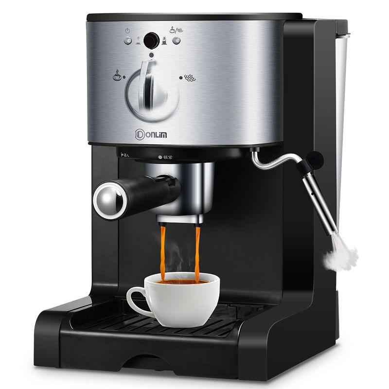 Italian Drip Coffee Machine Semi-automatic Steam Coffee Pot Coffee Powder Capsules Three In One Handle 15Bar Milk Foam