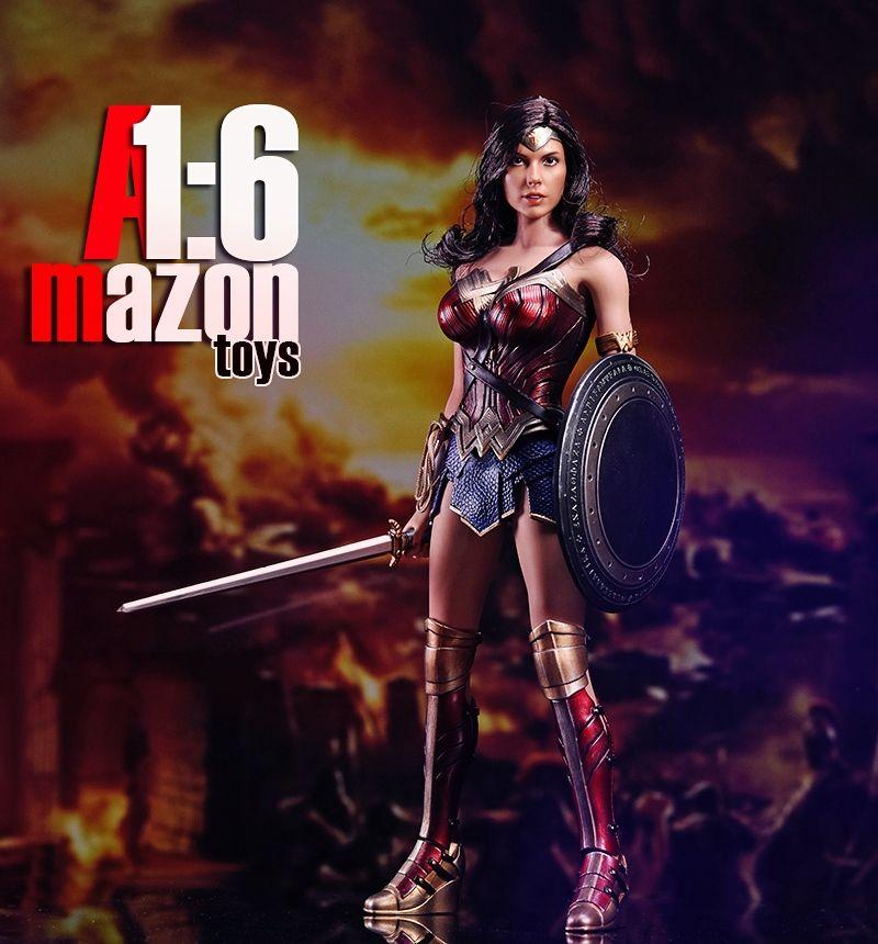 1/6 Escala Figura Película Wonder Woman amazonas AMtoys 1:6 Guerrero Colección Figura de Acción Conjunto Completo