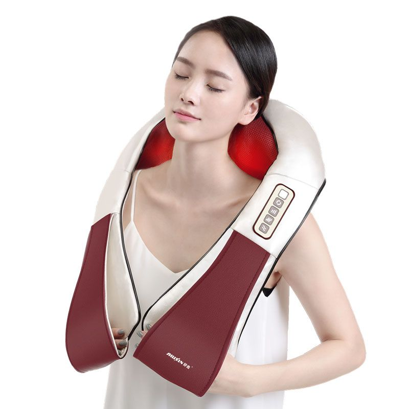 4D Electrical Body Massager Relaxation Massage Neck Back Shoulder Shiatsu vibration Infrared Kneading Home Car Acupuncture
