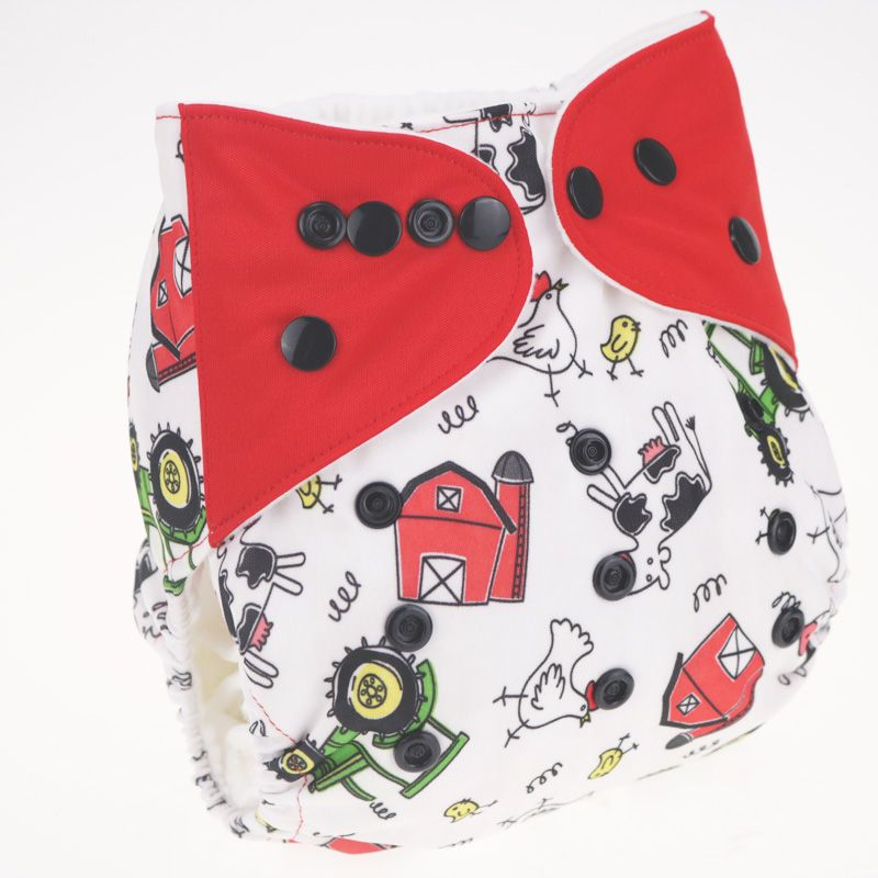 Baby Nappy Washable Baby Cloth Diaper Cover Nappy Changing Adjustable Size Couche Lavable fralda de pano merries 0-3 years