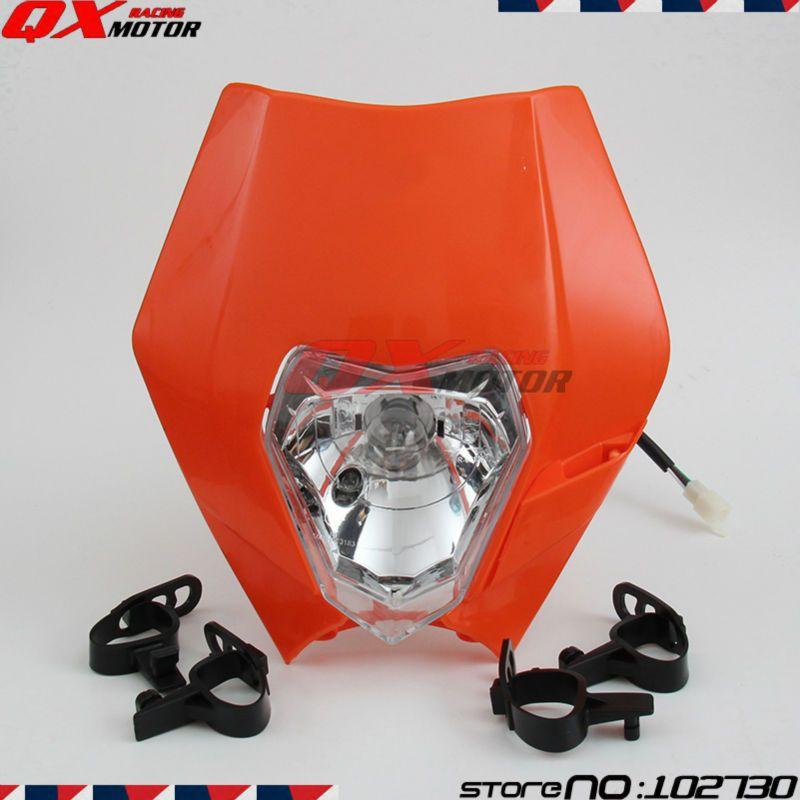 Motorcycle Headlight 12V 35W Headlight Head Lamp Fairing for ktm SX EXC XCF SXF SMR Motorcycle MX Dirt Bike Off Road Dual Sport