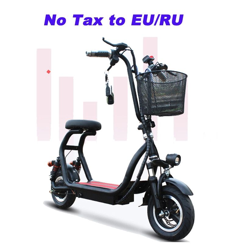 10 inch Electric bike mini two round folding bike lithium battery bicycle adult pedal scooter Convenient small electric bike