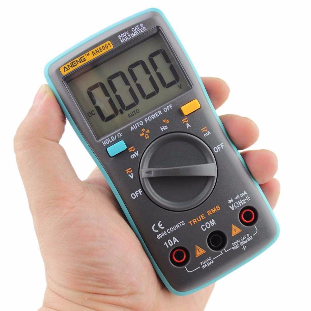 Professionnel Et Pratique AN8001 Multimètre Numérique 6000 Points Rétro-Éclairage AC/DC Ampèremètre Voltmètre Ohm Mètre Portatif