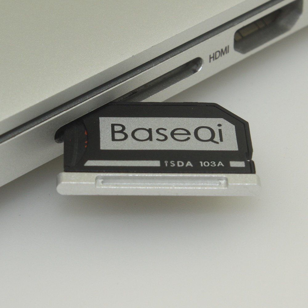 103A Original BASEQI Aluminum MiniDrive Micro SD Card Adapter Card Reader For Macbook Air 13''