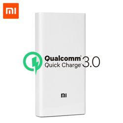D'origine Xiaomi Puissance Banque 20000 mAh 2C Portable Chargeur Soutien QC3.0 Double USB Mi Externe Batterie Banque 20000 pour Mobile téléphones