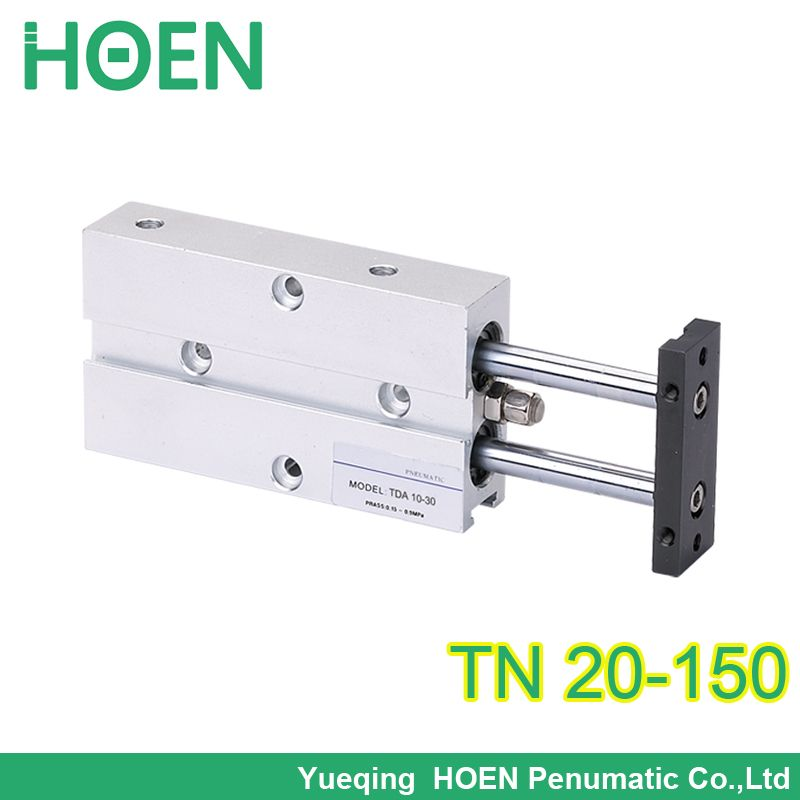 TDA20-150 Bore 20mm Stroke 150mm Double Acting Pneumatic cylinder-- TN/TDA Double Shaft Cylinder Series
