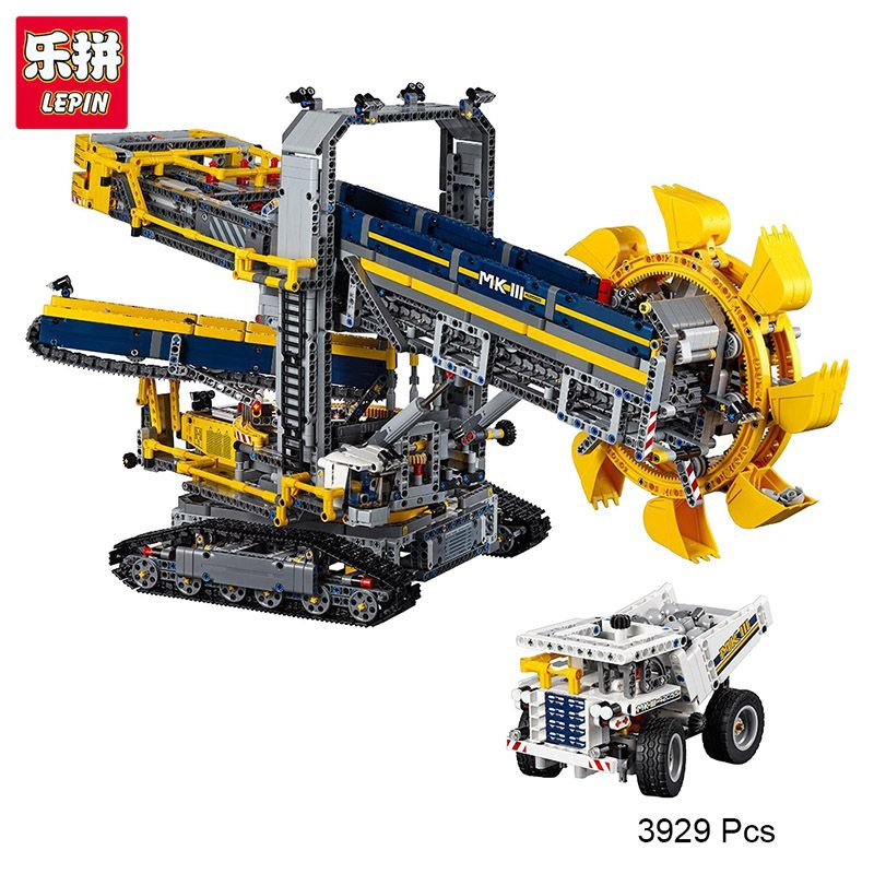 legoing LEPIN 20015 Technic Series Bucket Wheel Excavator Model Assembling Building Blocks Brick Compatible with 42055