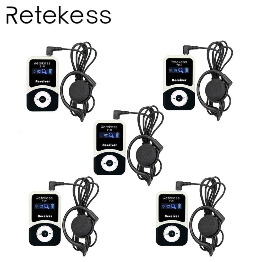 5 stücke RETEKESS T131 99 Kanäle Tragbare Drahtlose Empfänger Für Tour Guide System/Gleichzeitige Treffen/Wireless/Treffen kirche