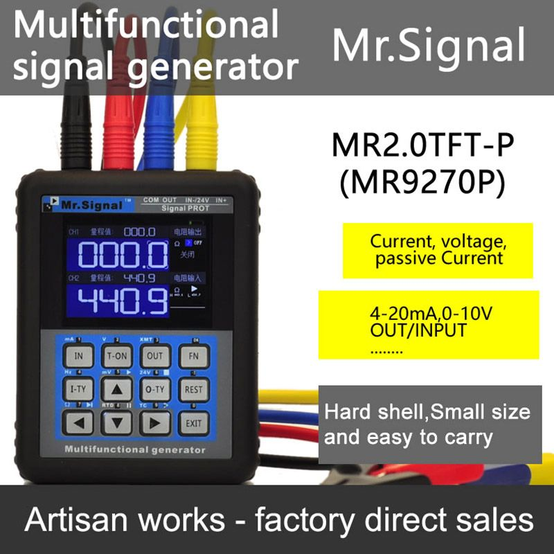 MR2.0TFT-P 4-20mA generator / 4-20mA calibration Current voltage Signal Pressure transmitter USB Port Rechargeable Mr Signal
