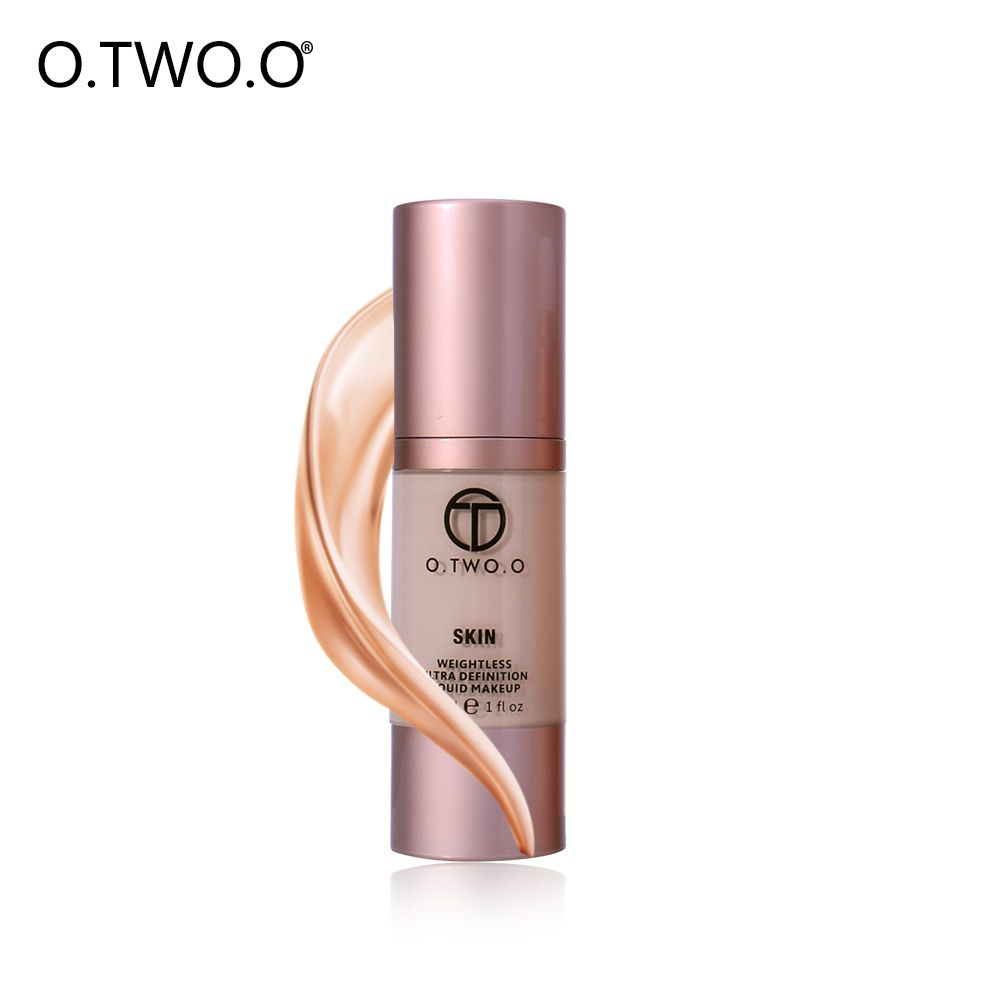 O. DEUX. O Liquide Fondation Maquillage Primer 4 Couleurs Fluide Foudation Crème Étanche Couverture Complète Maquillage Naturel visage