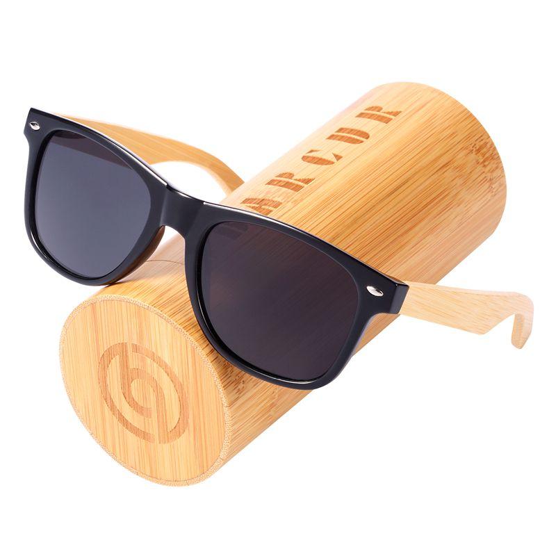 BARCUR Wood Sunglasses Spring Hinge Handmade Bamboo Sunglasses Men Wooden Sun glasses Women Polarized Oculos de sol masculino