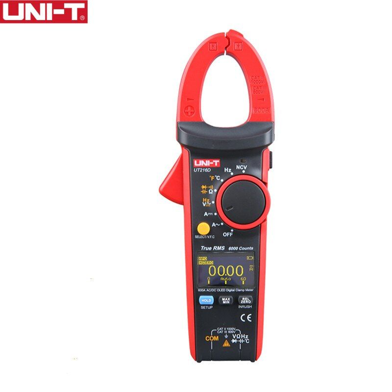 UNI-T UT216D 600A Digital Clamp Meter NCV V.F.C Diode LCD Hintergrundbeleuchtung OLED Display Analog Bar Graph Arbeit Licht