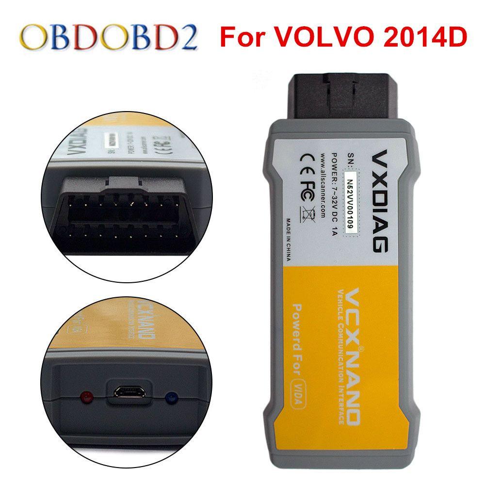 Original VXDIAG VCX NANO 2014 D For Volvo Car Diagnostic Tool Better Than Vdia Dice Multi-language Free Shipping