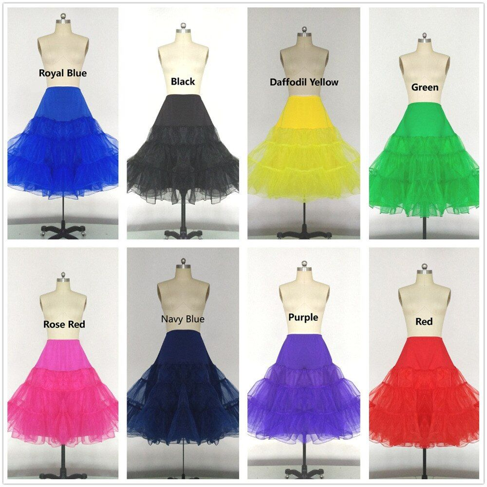 VARBOO_ELSA 14 colores corto enaguas para el vestido de boda Nupcial Enaguas de Tul Enaguas Para El Vestido de Novia Corto Longitud de La Rodilla