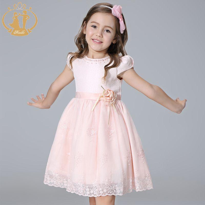 Nimble/Обувь для девочек одежда принцессы Вышивка лук цветами ручной работы из бисера Жемчуг одежда элегантный Кружево одежда для платья для д...
