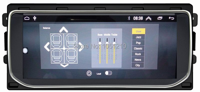 Ouchuangbo android 7.1 media radio recorder for Range Rover Vogue 2012-2016 support gps navigation 10.25 inch 2GB+32GB