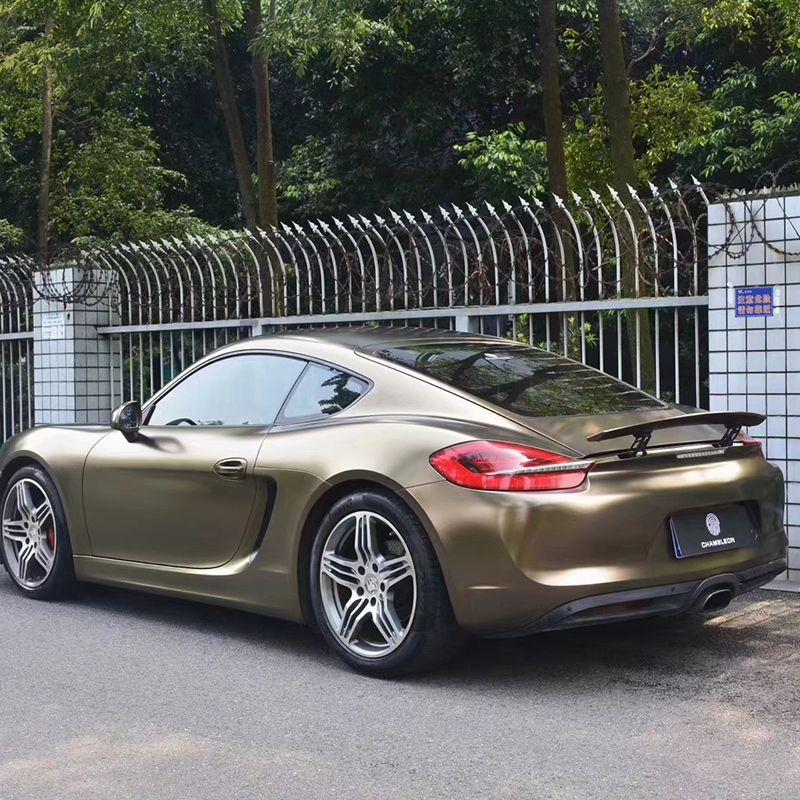 TSAUTOP größe 1,52X18 mt glänzend blitz metallic gold braun vinyl wrap vinyl aufkleber professionelle auto stickerping