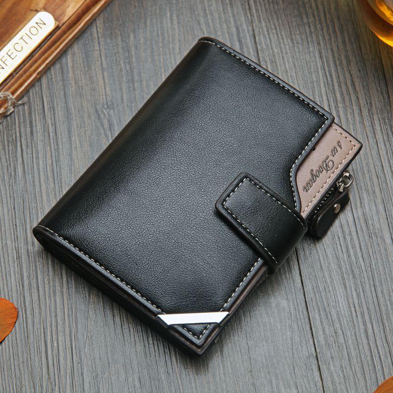NO.ONEPAUL Vintage Portefeuille court pour hommes en cuir véritable multi-cartes Bit rétro titulaire de la carte embrayage portefeuilles sacs à main première couche Re
