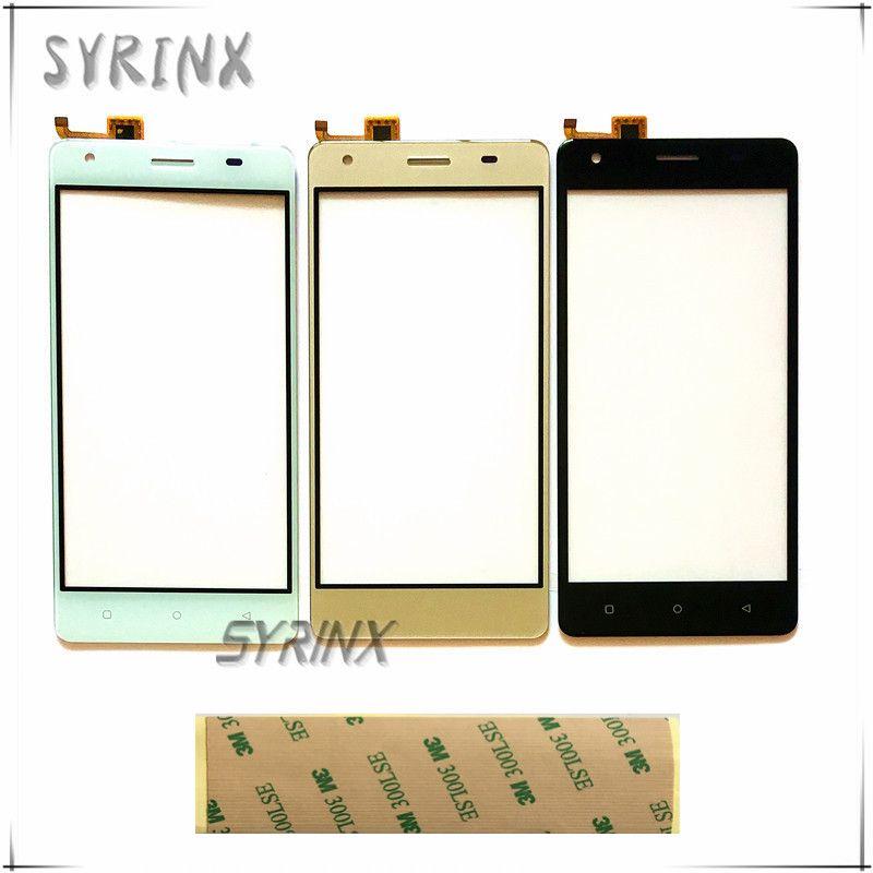 Syrinx 5.0 pouce Avec 3 m Bande Moible Téléphone Tactile Panneau Pour DEXP Ixion ms550 Capteur Tactile Avant Lentille En Verre Touchpad