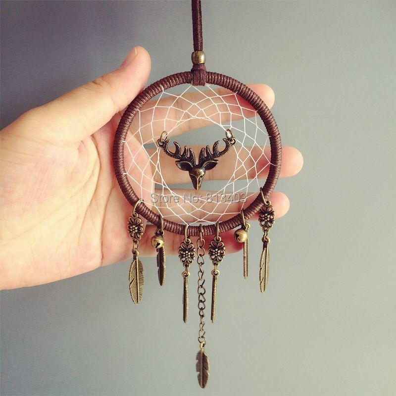 Nouvelle Arrivée Voiture Pendaison Décorations pour La Maison Rêve Catcher Maison De Voiture Suspendus avec elk et Jingle Bells Meilleurs Cadeaux pour Elle