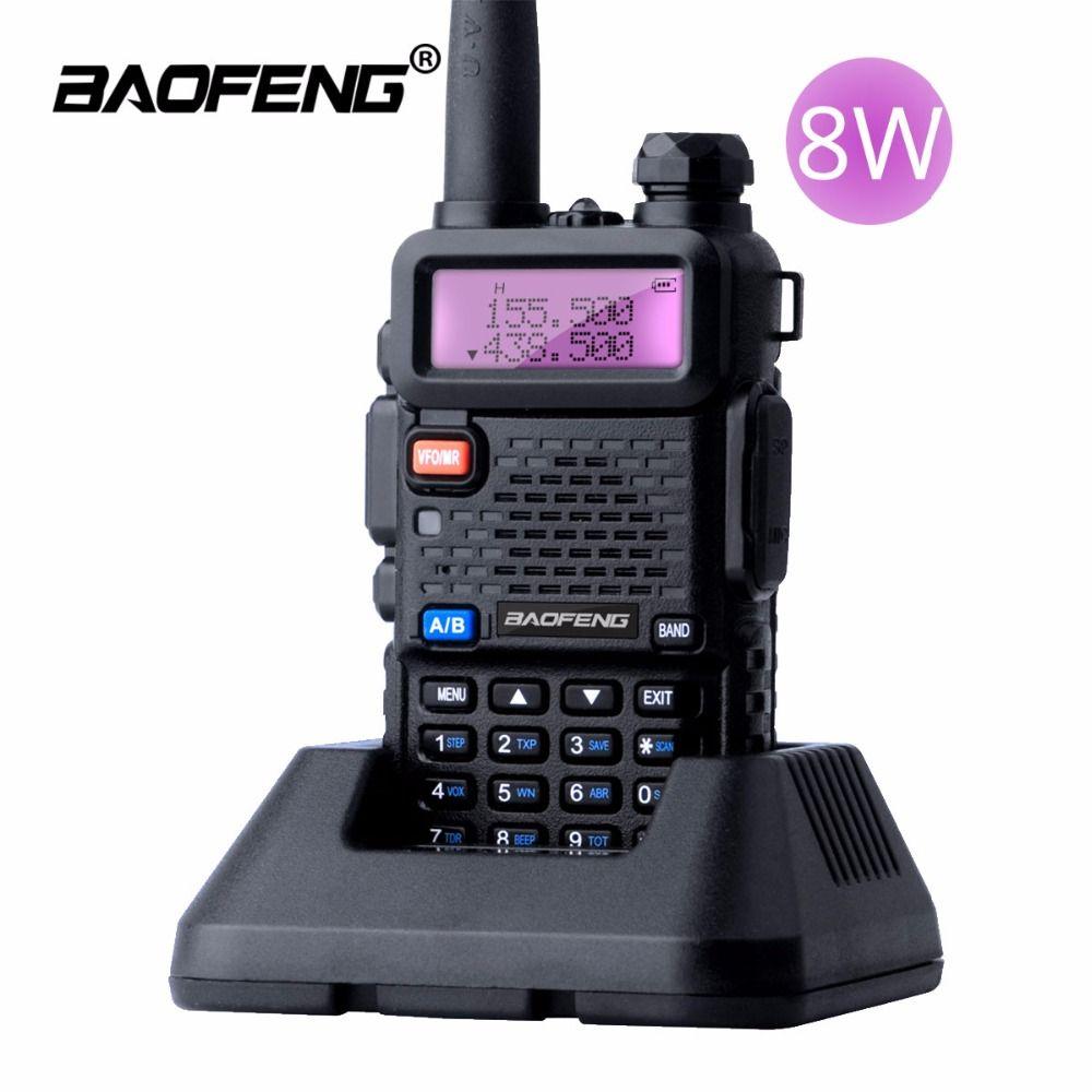 Baofeng UV-5R 8 Вт Двухканальные рации 10 км Dual Band УФ 5R ветчиной двусторонней Радио VOX фонарик Ручной Длинные диапазон Портативный Охота Радио