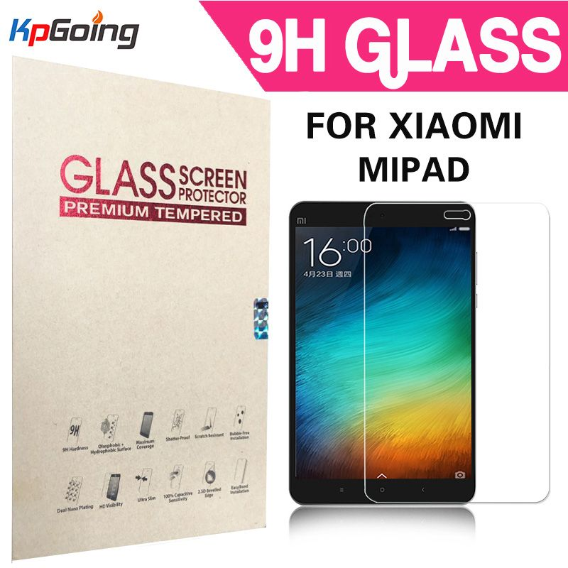 9 h härte super klar gehärtetem glas displayschutzfolie für xiaomi mipad 1 einscheiben-schutzfolie für xiaomi mi pad 1 Fundas