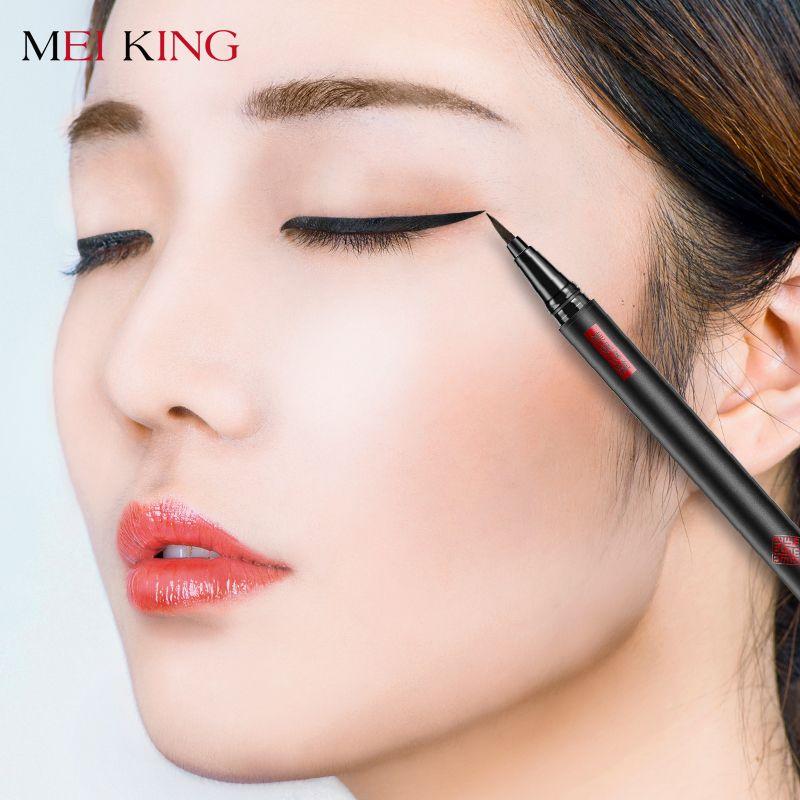 MEIKING 1 Pcs Noir Long Lasting Eye Liner Pencil Waterproof Eyeliner Anti-Maculage Cosmétique Beauté Maquillage Liquide Eyeliner Stylo