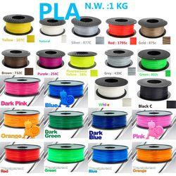 Haut de luminance pla filament 3d imprimante filament USA matière première Naturelle pla 1.75 3d en plastique filament 1 kg impressora 3d filament