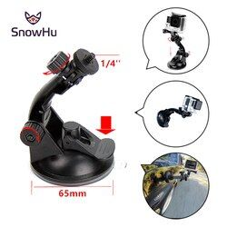SnowHu For gopro Car Suction Cup Mount Holder Tripod Mount Adapter For Gopro Hero5 4 3+ aluminum For xiaomi yi For Yi sjcam YX61