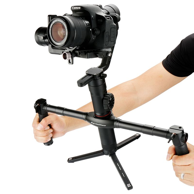 AgimbalGear Dual Handheld Extended Handle for Zhiyun <font><b>Crane</b></font> 2 V2 M Plus Gimbal Stabilizer Extended Handgrips Video Grips
