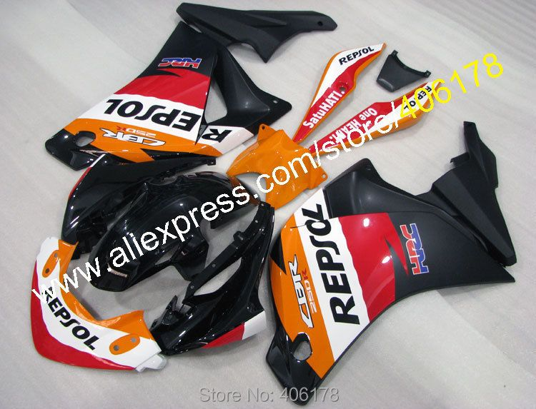 Heiße Verkäufe, für Honda verkleidung kits CBR 250R MC41 CBR250R 2011-2014 CBR 250 11 12 13 14 HRC Verkleidung körper kits (spritzguss)